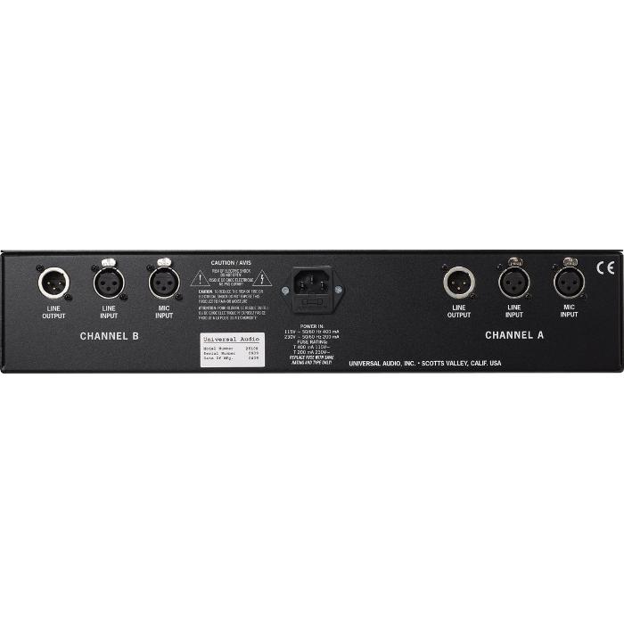 Universal Audio 2-610 Dual Channel Tube Preamplifier - вид сзади